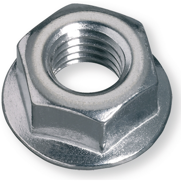Serrated nut similar DIN 6923 / EN 1661, M 12, steel 8, zinc plated